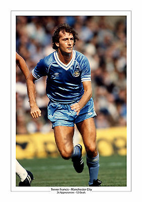 Trevor Francis Career Stats Manchester City A4 Print Photo Gift For Him Man City