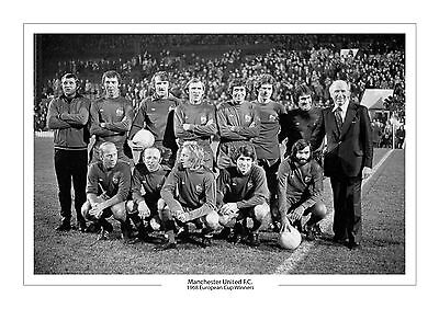 1968 European Cup Manchester United A4 Print Photo Man Utd Gift For Him