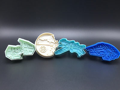 Star Wars Space Craft Cookie Cutters Space Ship Death Star X-Wing Tie Falcon 4pc