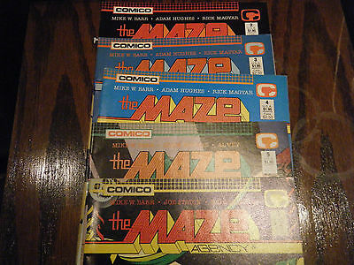 COMICO COMICS 1989 the Maze Agency Issues # 2 , 3 , 4 , 5 ,& 6