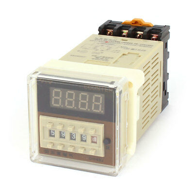 DH48J-8A AC/DC 24V 1-9999 8-Pin Adjustable Time Plastic Panel Delay Timer Relay