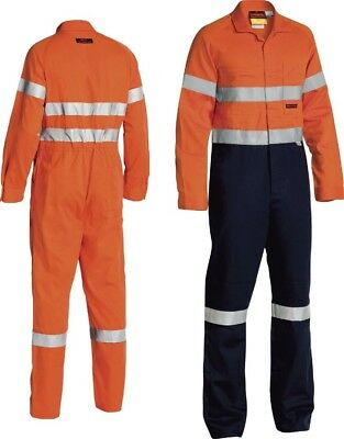 Bisley Indura® Ultra Soft® Fire Retardant Coverall 3M Fr Reflective Tape-Bc8001