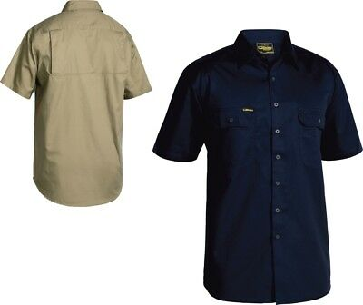 Bisley Workwear Work Shirts Cool Lightweight Drill Shirt - Short Sleeve (Bs1893)