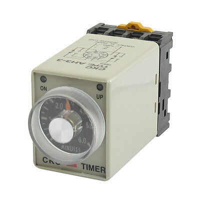 AH3-3 AC 24V 0-6 Minute Timer Power ON Delay Time Relay 8 Pin w Socket