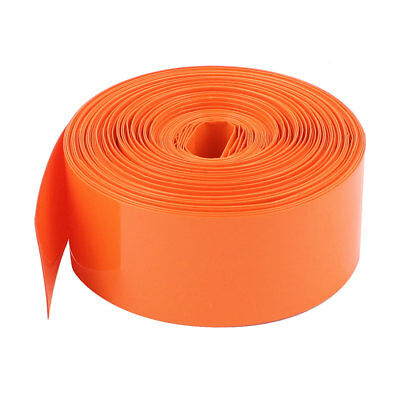 10M Long 23mm Orange PVC Heat Shrinkable Tubing Sleeve Wrap for 1 x AA Battery