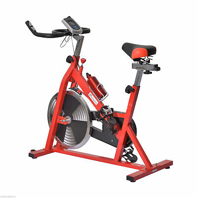 New Upright Indoor Cycling Stationary Exercise Bike Cardio Trainer w/LCD Monitor