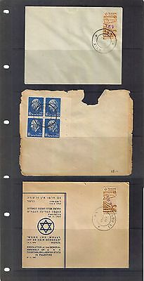 ISRAEL Pre State 1948 Interim Minhelet Ha'am Collection of 3 Covers