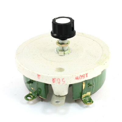 Wirewound Ceramic Potentiometer Linear Rheostat Resistor 150W 50 Ohm