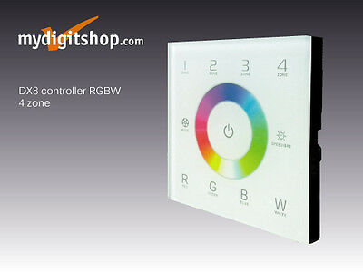DIMMER TOUCH CONTROLLER RGBW DX8 4 ZONE LED RGBW RF-DMX 512 2,4 GHz LTECH