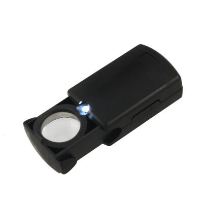 Plastic Portable 21mm Dia Black Folding Eye Loupe Jewelry Magnifier