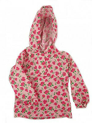 Mothercare New Pink Floral Hooded Raincoat Mac Jacket 18m - 8 Years Bnwot