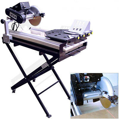 """27"""" Cut Wet Tile Saw Laser Guide Paver Stand for Brick Marble Granite with Pump"""