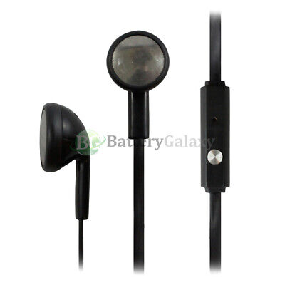 25 Black Headphone Earphone Headset Earbuds for Samsung Galaxy Note 1 2 3 4 5 6