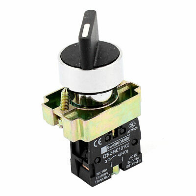 AC 240V 3A SPST 1NO Latching Action 2 Positions Selector Rotary Switch