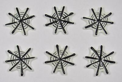BB FLATBACKS SPIDER WEB pk of 6 HALLOWEEN cabochons resin flatback hair bows