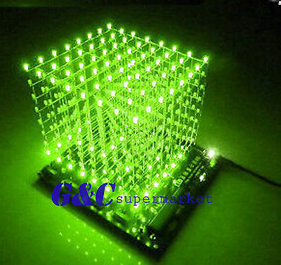 LED Cube kit Red Colour Arduino-Software Compatible M124 new