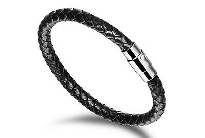 Stainless Steel Vintage Band Classic Men's Bracelet Black
