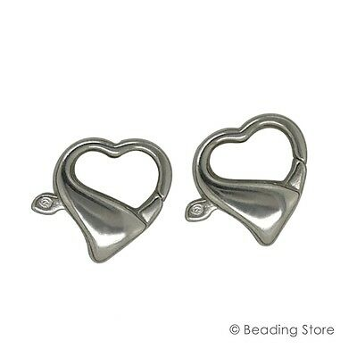 Various 925 Sterling Silver Heart Fancy Lobster Parrot Bolt Trigger Clasp Clasps
