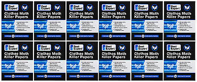 Clothes Moth Killer Strips Papers from Pest Expert (pack of 10) X12