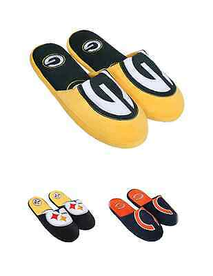 NFL Football Team Logo All Over Logo Slide Slippers - Pick Your Team!