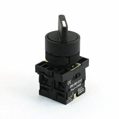 AC 240V 3A 2NO DPDT Black Top Selector Locking Rotary Switch