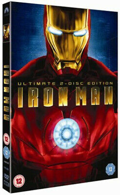 Iron Man DVD (2008) Robert Downey Jr, Favreau (DIR) cert 12 2 discs Great Value