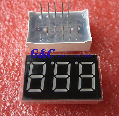 0.36 inch 3 digit 7 seg segment Common anode led display Green M99