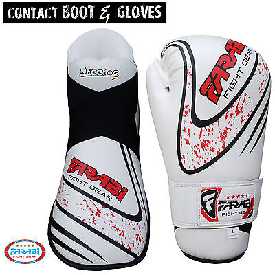 Farabi Kickboxing taekwondo Semi Contact Boot & Gloves Each