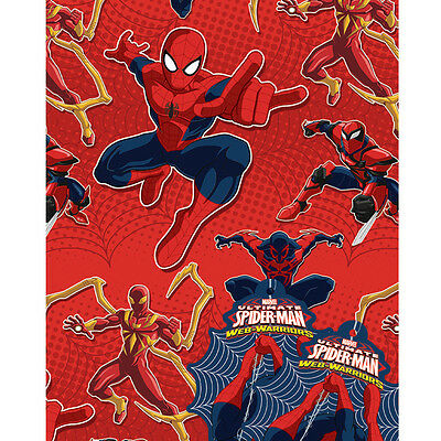 Spiderman Web Warrior Gift Wrap Kids Birthday Party 2 Sheets/Tags Kids Christmas
