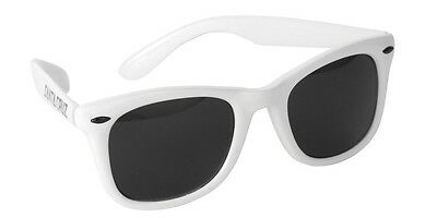 Santa Cruz STRIP SHADES Wayfarer Style Skateboard Sunglasses WHITE