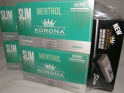 Cigarette Filter Tubes Korona Slim Menthol 1000 or 240 + filling machine