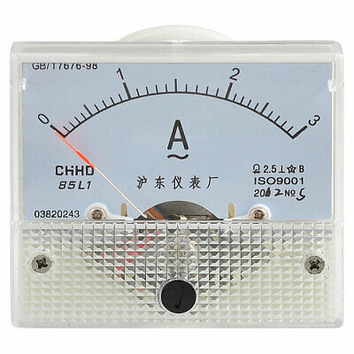 Plastic Shell Class 2.5 Accuracy ACere Ammeter Meter Gauge 0-3A
