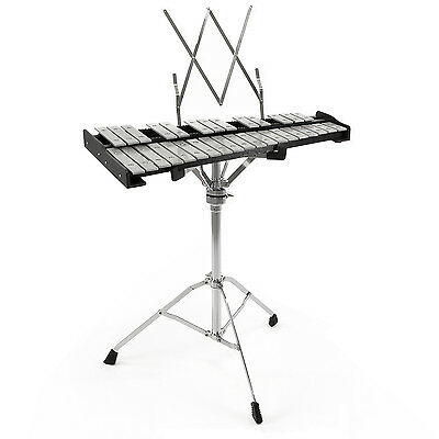 New 32 Note Orchestral Glockenspiel by Gear4music Free Stand + Case