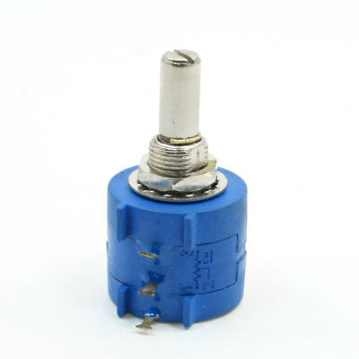 10-Turn Variable Resistor Rotary Wire Wound Potentiometer 2K Ohm 3590S-2-202L
