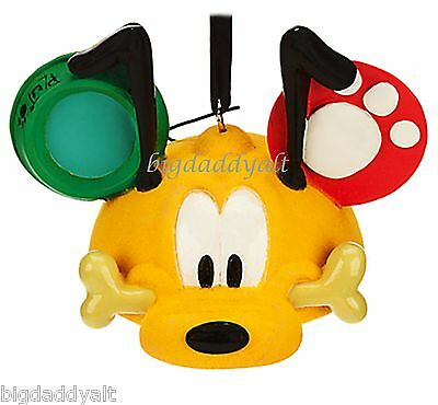 New Disney Parks Pluto Mickey Mouse Ear Hat Ornament Christmas Holiday