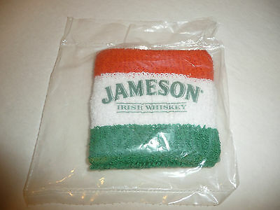 Jameson Irish Whiskey Wrist Sweat Band - Orange Green White NEW SEALED
