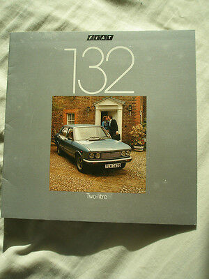 Fiat 132 two litre range brochure Aug 1977