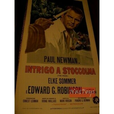 Locandina Film INTRIGO A STOCCOLMA con Paul Newman 1963 Original Poster Cinema