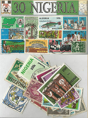 Charity Stamp Packet Nigeria 30 Stamps 379
