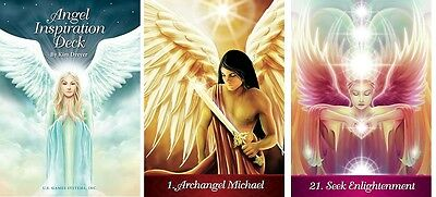 Angel Inspirations NEW 44 cards Reference Chart Guide Book 60 pages Kim Dryer