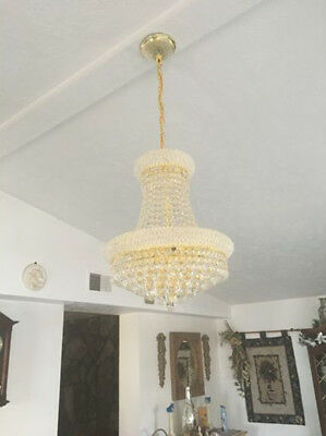"""SALE French Empire Primo 8 Light Gold Finish Crystal Chandelier 16""""x20""""H Mini"""