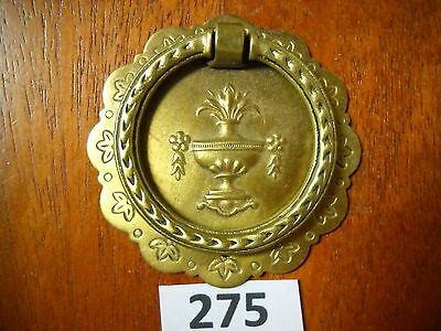 Antique Brass Ring Drawer Pull Single Screw