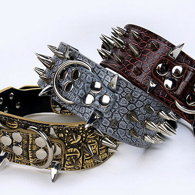 New Spiked Studded Cool Rivets PU Leather Dog Pet Puppy Collars for Small Dogs