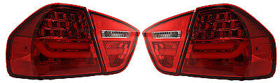 LED Back Rear Tail Lights BMW E90 05-08 Not For 335D Red Lamps Lci Style