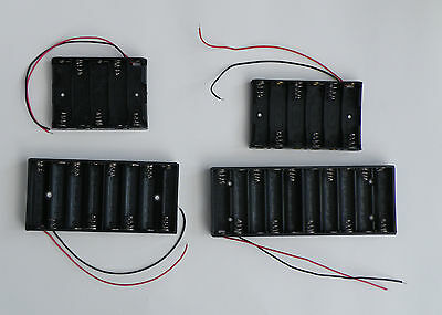 Flat AA Battery Holders. 5, 6, 8 and 10 Serial Holders Boxes. UK Stock.
