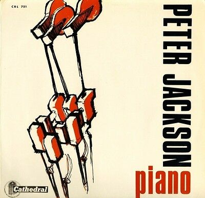 PETER JACKSON piano CRL 751 uk cathedral LP PS EX/EX