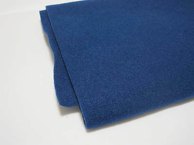 (7,10€/m²) blue Felt Boxing Mat Upholstery cloth Cover material 150x75cm 2422