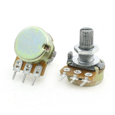 Top Adjustment Single Turn Knurled Shaft Potentiometer 100K Ohm 2Pcs