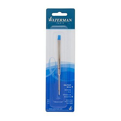 Waterman Paris Pen Ink Refill, Ballpoint, Medium, 0.7 mm, Blue 834264 Ball Point