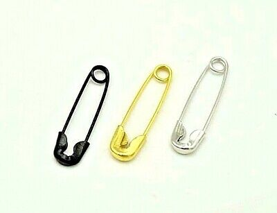 20 50 100 500pcs - 19mm Small Metal Safety Pins Findings Craft Sewing Black Gold